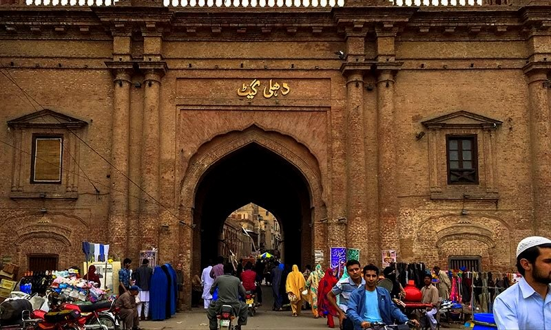 A-view-of-Delhi-Gate